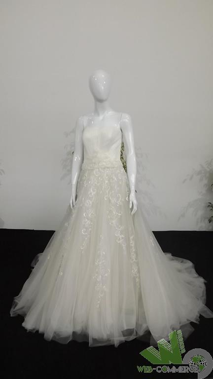 Abito Vestito Da Sposa Tulle Bianco Naturale 42 Strascico Coda Matrimonio - natura - ebay.it